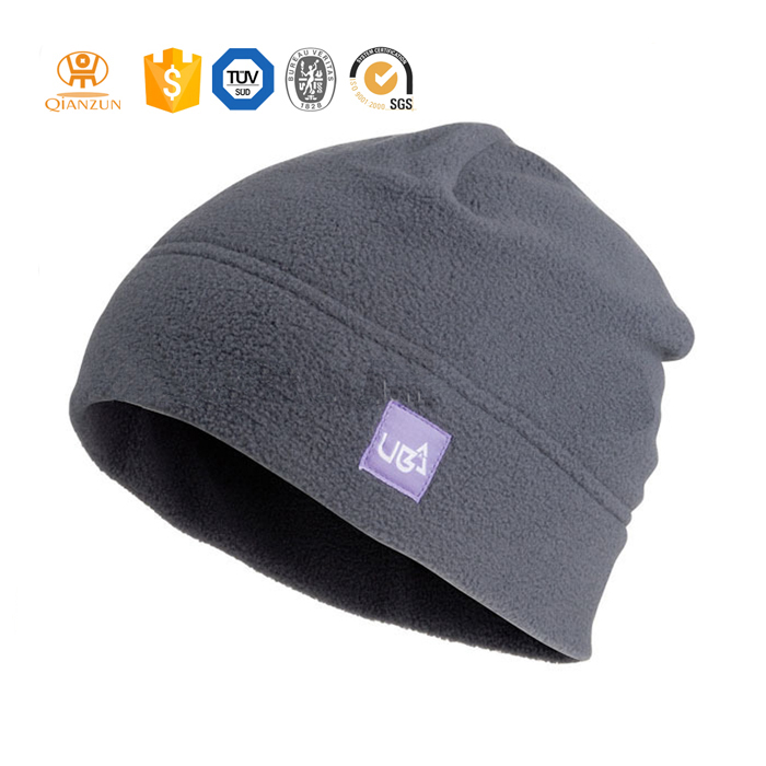 custom cheap men's winter polar fleece knit acrylic beanie