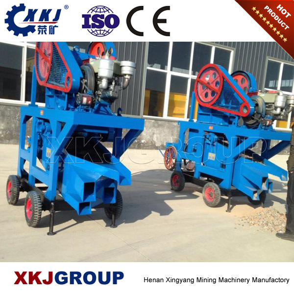 Hot sale mini portable mobile PE250x400 stone jaw crusher with diesel engine