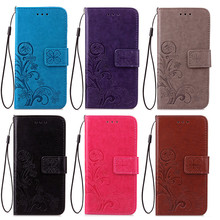 High Quality Leafs Embossing Pattern PU Leather Case for ZTE Warp 7 Embossing Mobile Phone Case for ZTE Warp 7