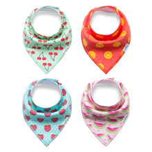2018 Hot Sales 100% Organic Bandana Triangle Cotton white Baby Bib For Drooling And Teething Baby Bibs Bandana