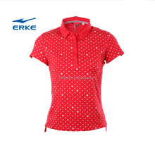 ERKE 2015 womens summer cotton polo t shirt sea style lovely dots short for women and girl Wholesale/OEM