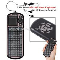 Factory Price 2.4G Voice Mini Wireless bluetooth Keyboard with IR Remote