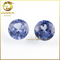 wholesale synthetic high quality round cz tanzanite loose stone