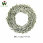 Artificial Snowy Christmas Wreath Handcrafted Christmas Decoration