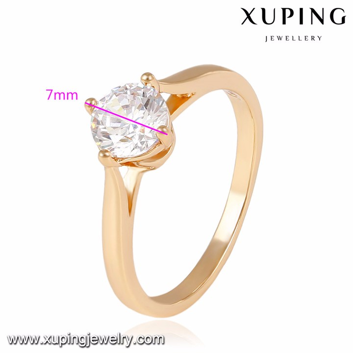 14044 Xuping diamond fashion jewelry, Fashion big diamond engagement ring, 18K Gold Plated wedding Rings