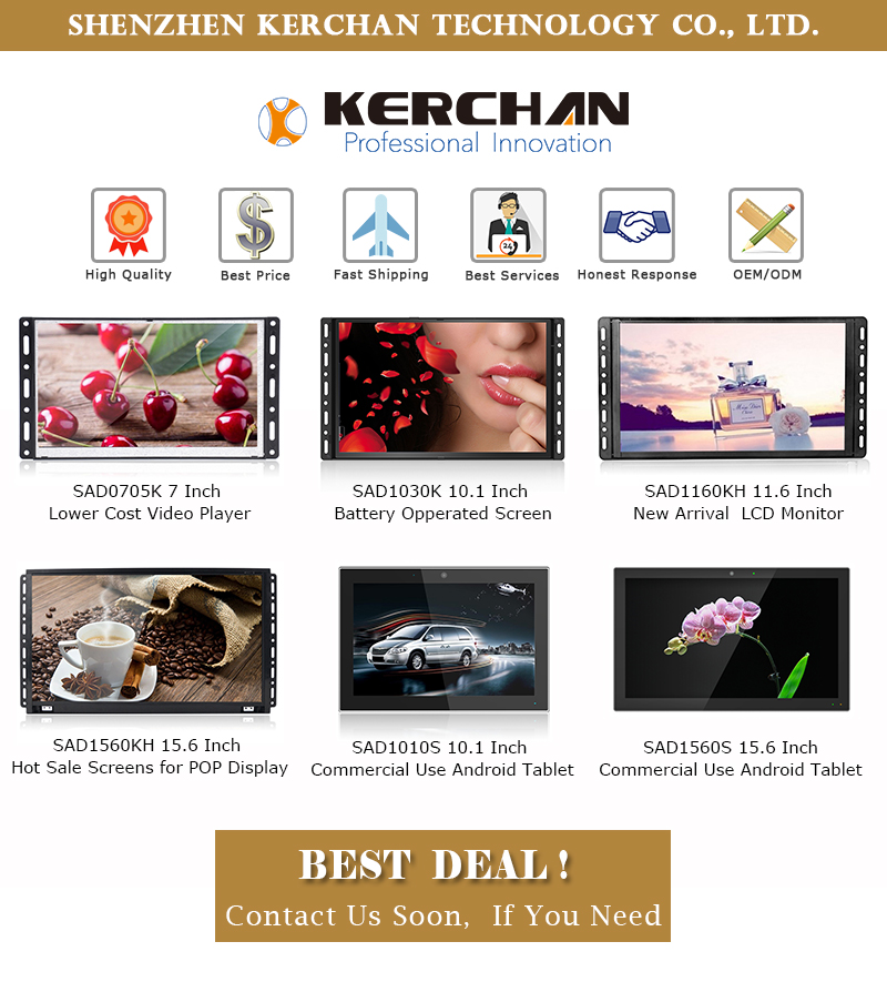 11.6 inch HD LCD Signage Digital Screen Player Open Frame Advertising Display with Push Button Control Remote Motion Sensor