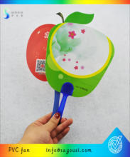online shop china new design PVC hand fan for promotion