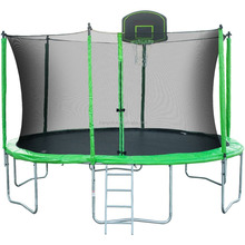 14feet Trampoline with bright PVC and basketball hoop