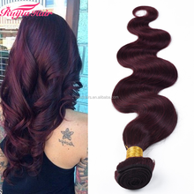 Body wave Pure Color #99j Wine Red Hair Weaves 100% Virgin Remy Hair Extensionhair human Hair extensions