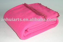 Pompon polar fleece blanket
