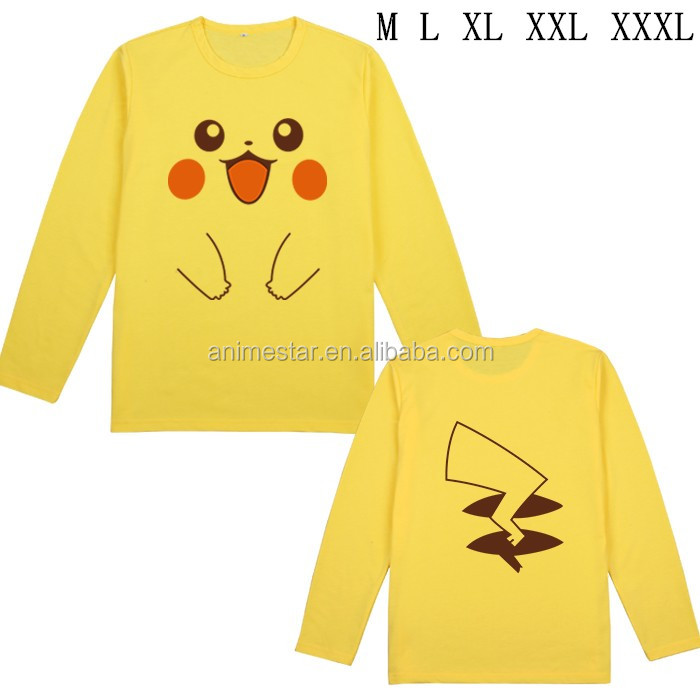 Pokemon Anime long sleeved T shirts M L XL XXL XXXL