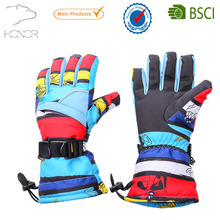 Custom best poly shell waterproof skiing gloves,snowboarding gloves