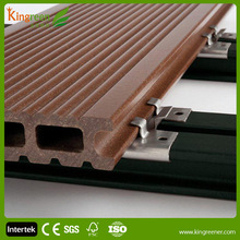 Engineered type non-distorted lowest price decking wpc crack-resistant decking and our WPC decking 100% eco friendly not PVC