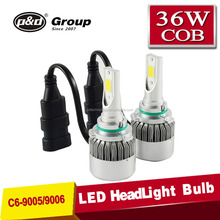 Guangzhou led auto 36W 3800LM led headlight bulb ,led headlight bulb h7