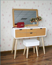 Modern bedroom furniture vanity make up table/ white dresser with stool