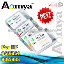 Aomya refillable ink cartridge for hp 932 933 with auto reset chips