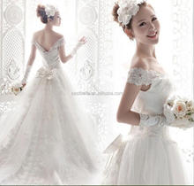 2016 OEM Bride Sweetheart white Long Tail Wedding Dresses