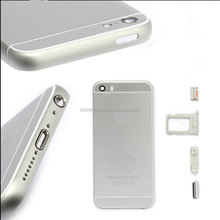 Brand New Metal Battery Housing Door Back Cover Case For iPhone 5 5S Replace To iPhone 6 mini Gold Silver Grey