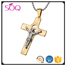 top sale jesus pendant christian gift cross pendant necklace christ on the cross in stainless steel jewelry