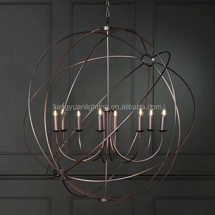 8 light Sphere Pendant Lighting Lamp Modern Industrial Chandelier Vintage Hangout Lighting