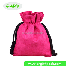Wholesales Samll Suede Drawstring Pouch Bag For Gift