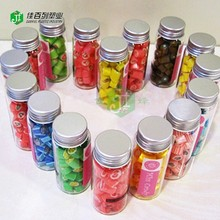 food grade aluminium cap factory wholesaler 6oz 8oz12oz16oz custom logoprint label round shape plastic pet clear empty candy jar