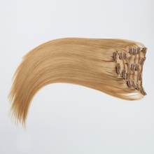 wholesale cheapest indian human hair pieces full head cheap colored clip in hair extensions