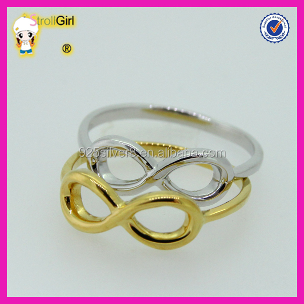 Fashion hot sale jewelry infinity ring wholesale eight symbol custom gold cheap infinity rings