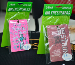 free design service/custom aroma absorbent paper air freshener for car