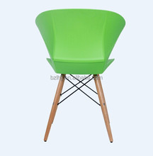 living room furniture /plastic chair factory/ modern brief plastic chair 1825