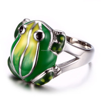 KSF Stainless Steel Ring Animal Ring With Frog Fancy Enamle Rings Wholesale