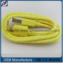 2014 Fabric micro usb braided cable for samsung s4