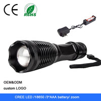 Aluminum alloy flexible cree bicycle led light torch