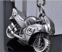 personality Classic 3D Simulation Model Motorcycle Motorbike Keychain Key Chain Ring Keyring