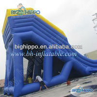 2013 hot outdoor giant kids play commercial pvc inflatable slide on sale