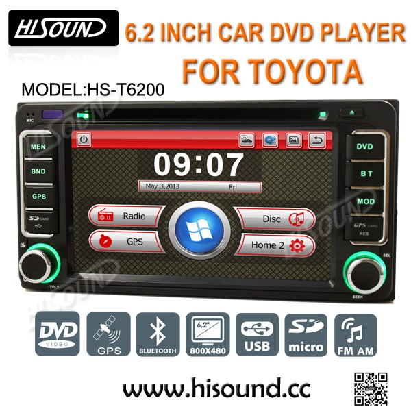 High quality 6.2inch touch screen 2 din car gps for toyota corolla