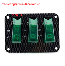 Car Toggle Switch with Green LED Indicator