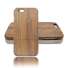 solid walnut wood made by CNC machine new design wooden case for iphone 6