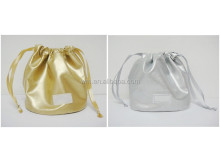 Promotional satin drawstring gift bag with various colors