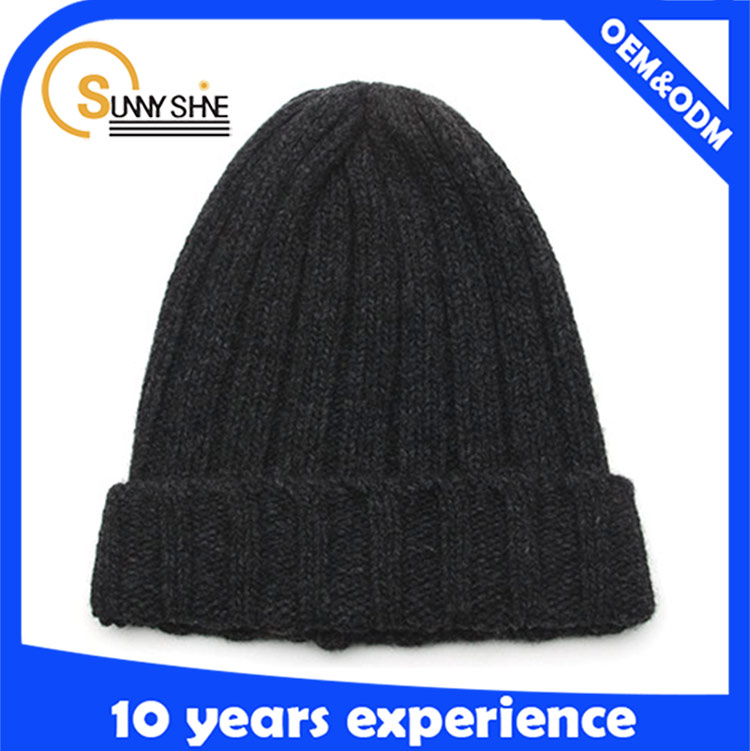 High Quality Cheap Acrylic Knitted Skull Beanie Men Caps And Hats Manufacture