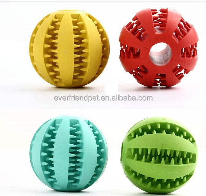 Best price! Eco-friendly 7cm durable rubber dog dental teenth ball toy