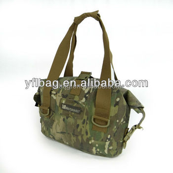 camouflage waterproof tarpaulin dry handbag for outdoor area