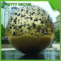 Large Spheres metal garden art wholesale