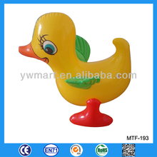 Pouty and small inflatable yellow duck toys for kids