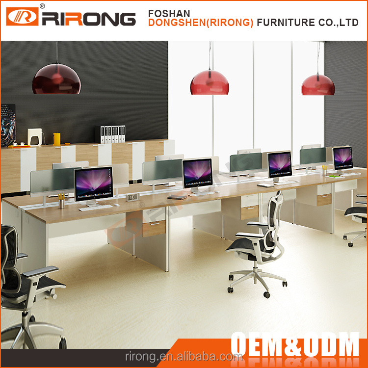 Customized modern cubicles modular computer call center workstation for 6 person