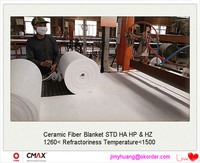 High Temperature 1600c Polycrystalline Mullite Ceramic Fiber Blanket for Iron Making Furnaces Made In China /JH