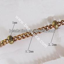 Brass Chain 1.2x2mm Nicmkel-Free Lead-Safe brass snake chain
