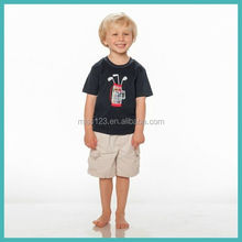 Little Boys fashion t shirt matching boys pant shirt made in China