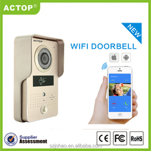 2015 new smart home ID card unlock ACTOP wifi door phone intercom system apartment