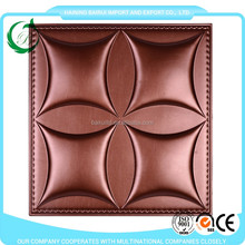 pu leather 3d decoration pvc wall board panel 40x40cm with SASO certificate